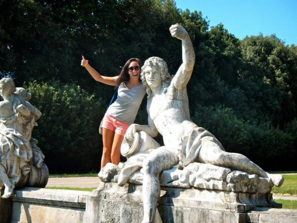 Sant'Anna student during her field trip to Caserta