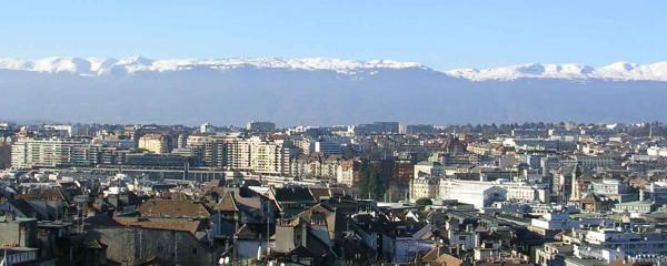 scenic city view of geneva