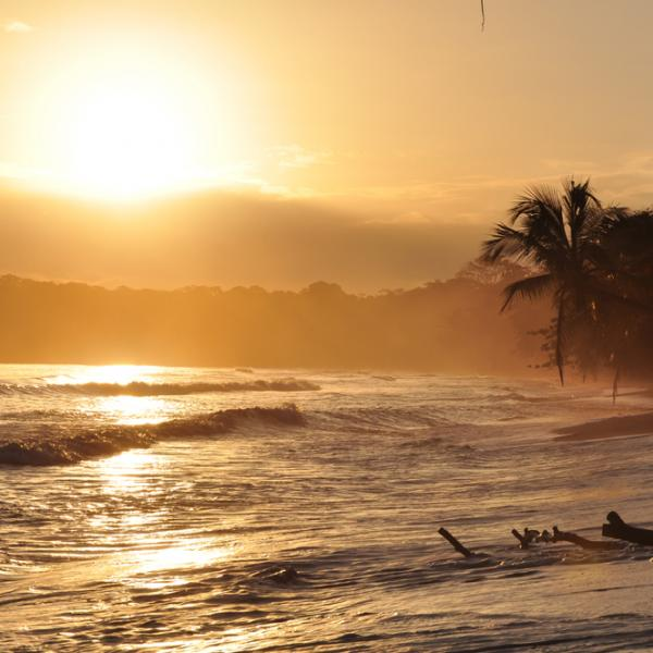 Costa Rica, Cahuita, sunset