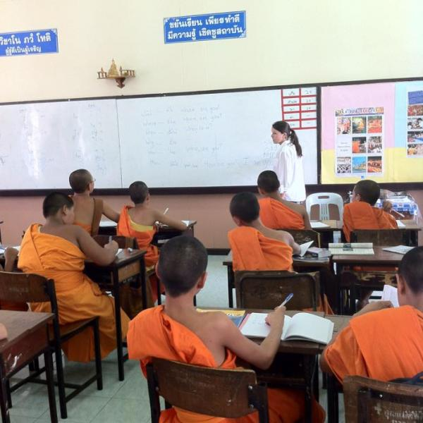 Teaching English to Monks in Thailand with Love Volunteers!
