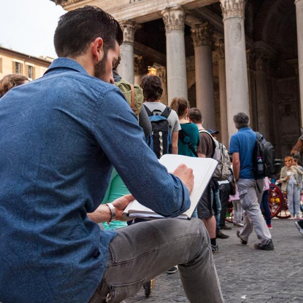 Sketchbook class at the Pantheon