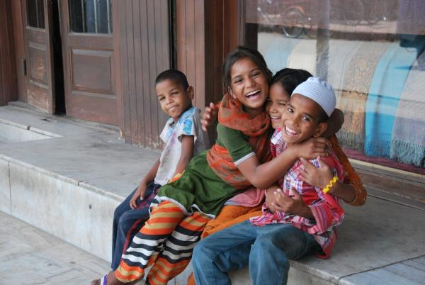 Children at a New Delhi NGO