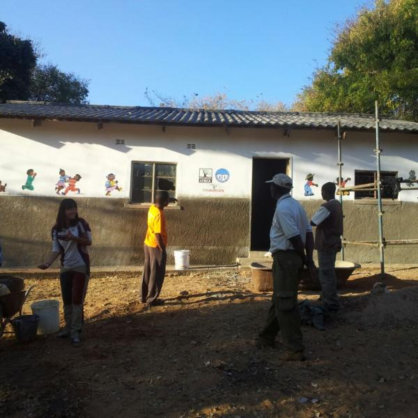 Volunteering on renovation of Early Childhood Development structure