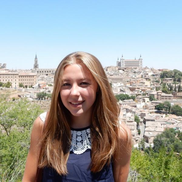 Student in Toledo, exploring with her Spanish host family