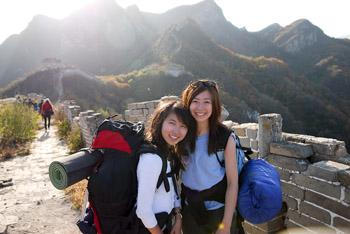 Our participants at the Great wall of China