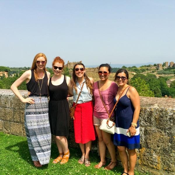 Athena Study Abroad Students In Tuscania, Italy program