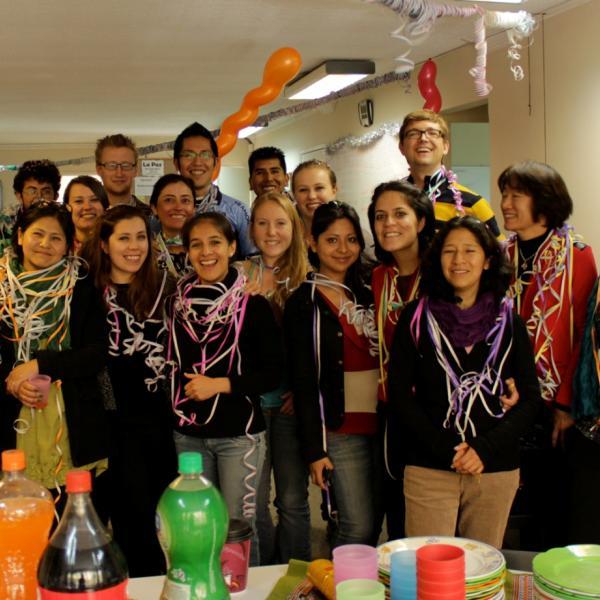 Celebrating carnival in La Paz!