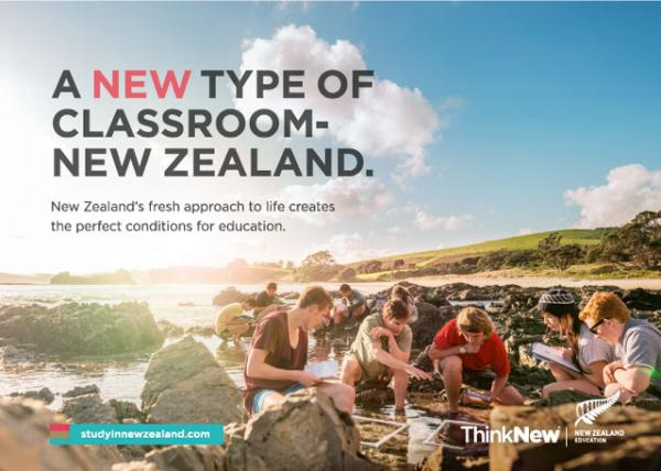A NEW type of classroom. Think New. New Zealand.