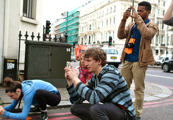 London Students Taking Photos