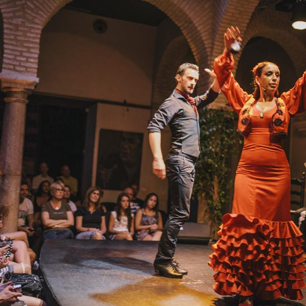 During a Flamenco show with our AP Spanish teachers in Sevilla, Spain