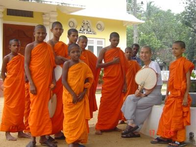 Photo of a group of monks, taken by a Projects Abroad volunteer. Colombo, Sri Lanka