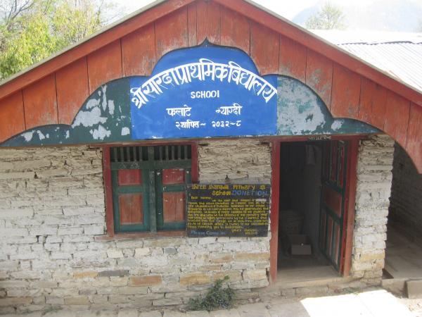 One of the schools in the Annapurna region, Nepal