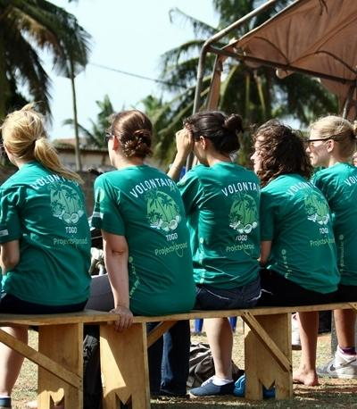 Projects Abroad volunteers conducting HIV/AIDS outreach in Togo