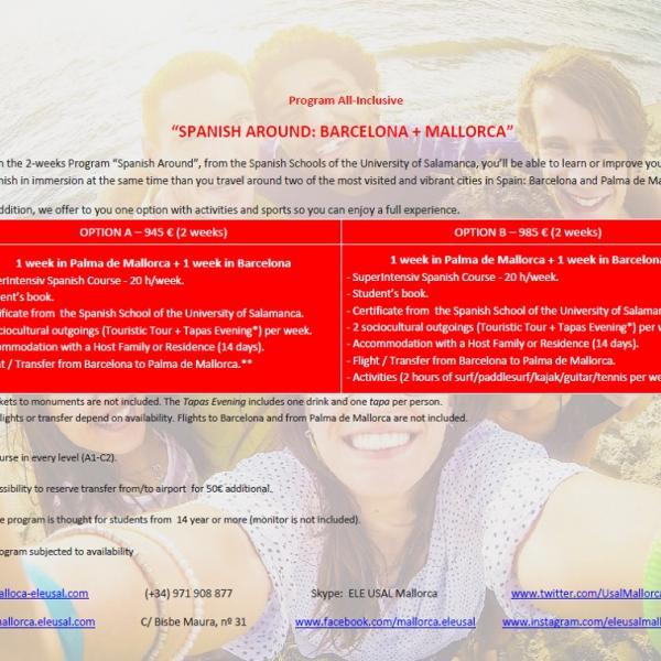 """Program """"Spanish Around: Barcelona+Mallorca"""" (All-Inclusive)"""