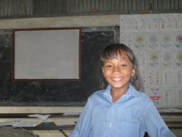 School child in the Kathmandu Valley