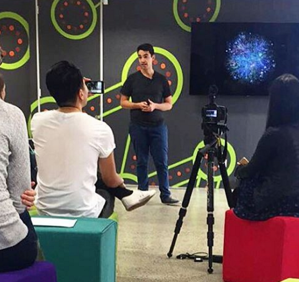 Sage Corps Fellows present ideas at a Startup Incubator in Sydney Australia