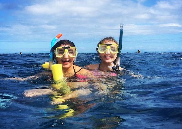 Sage Corps fellows snorkeling in the Great Barrier Reef in Sydney, Australia