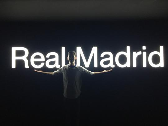 ISA intern at his internship with Real Madrid in Madrid, Spain