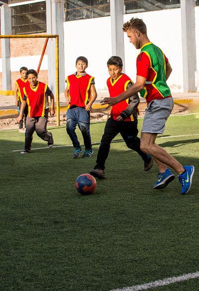 Sport teacher in Peru