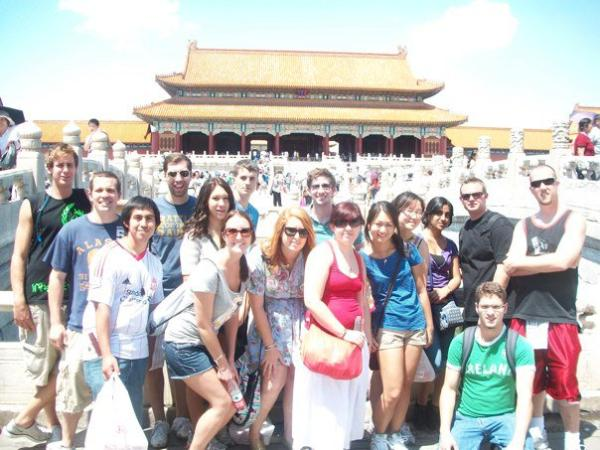 Teachers having a tour in China
