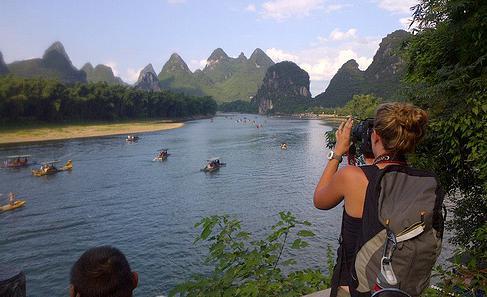 The spectacular Li river in Yangshuo.