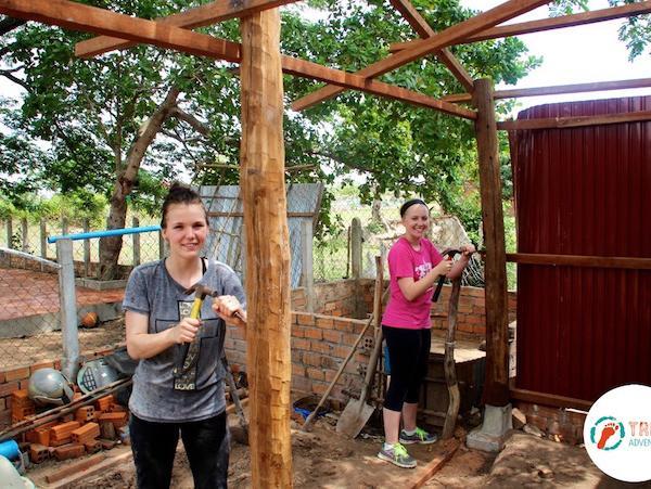 Cambodia building work