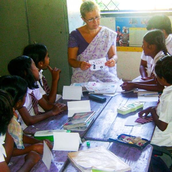 Teaching English in local school Sri Lanka
