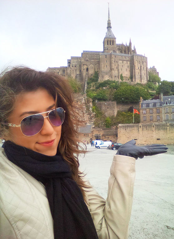 Visiting a castle in Europe