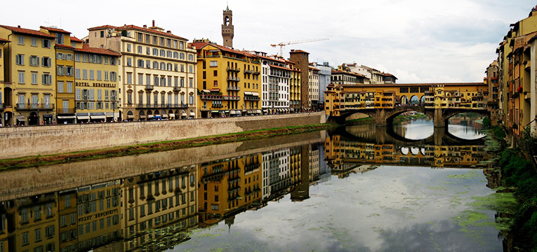 River view in Florence, Italy