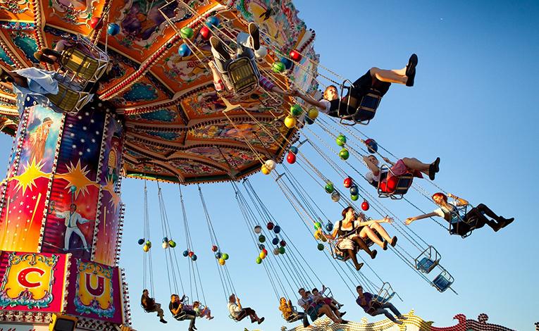 Carousel at Oktoberfest, Germany.