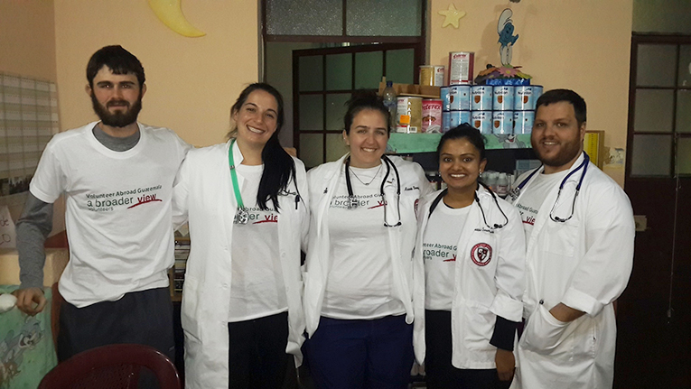 Medical students on a mission trip in Guatemala