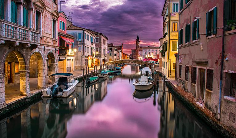 Nighttime in Venice, Italy