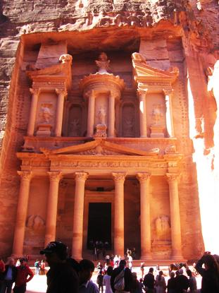 Be awed at the foot of the ancient City of Petra while interning in Jordan. Photo by Keri Foley
