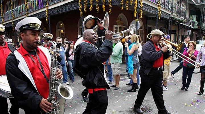 Carnival time in Uptown New Orleans.