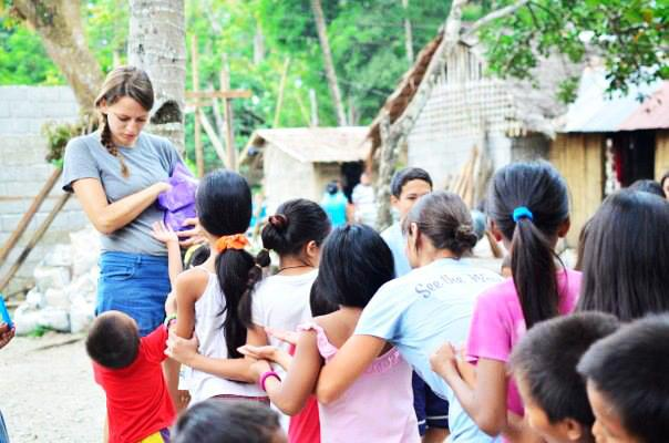 Volunteering in Asia.