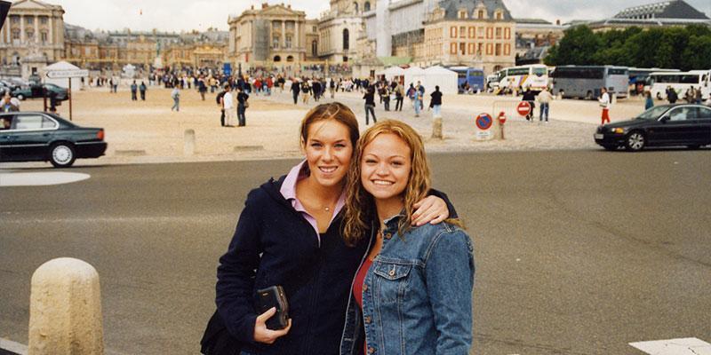 SA students at Versailes, France