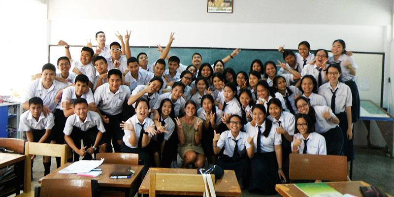My English class in Thailand.