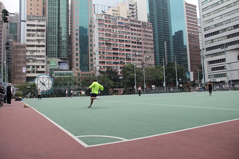 A soccer player in Hong Kong