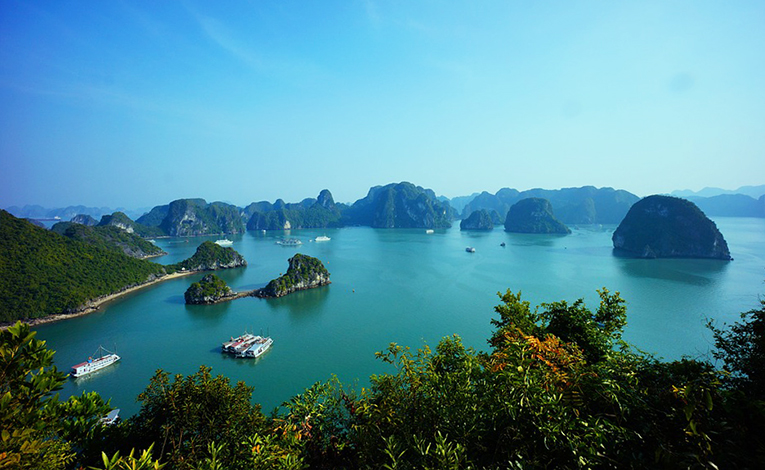 View of Ha Long Bay in Vietnam