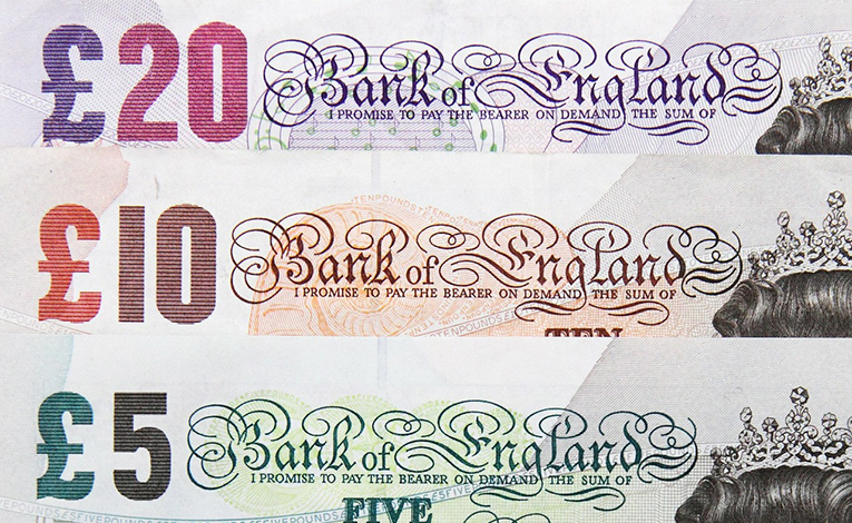 Variety of Great British Pounds