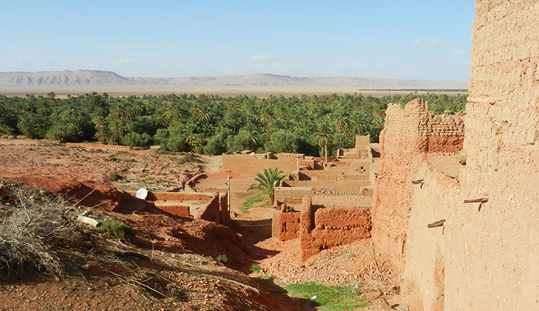 View of Boudnib, Morocco