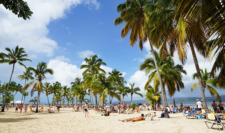 Island of Cayo Levantado in Dominican Republic