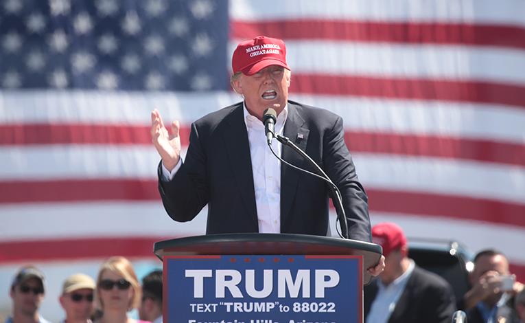 Donald Trump at rally in Arizona