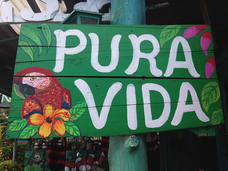 "Pura Vida, Spanish for ""pure life"""