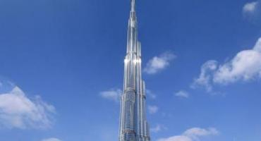 Burj Khalifa standing at 2,722 feet tall, Dubai, United Arab Emirates.