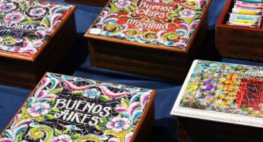 Tea boxes sold at the San Telmo Market in Buenos Aires, Argentina