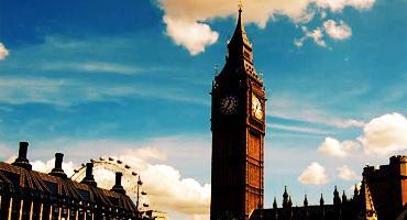 The famous Big Ben in London, England.