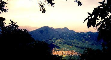 A city in the mountainous region of Guatemala