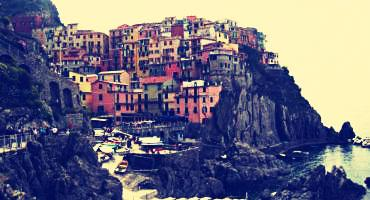 The colorful Cinque Terre, or Five Villages, in the Italian Riviera