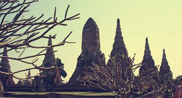 The ancient city of Ayutthaya in Thailand